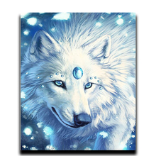 цена на Painting Diamond cross stitch DIY Diamond embroidery 5d Diy Square & Round animal mosaic icon Full Drawing Wolf