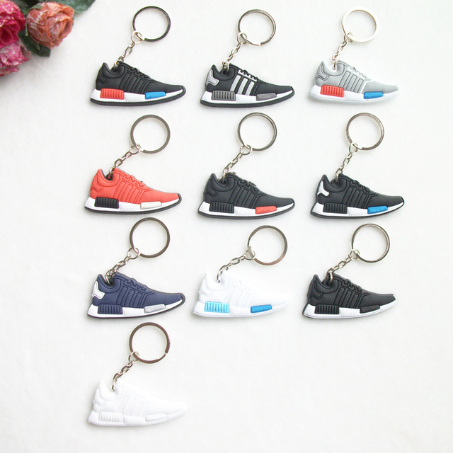 Mini Silicone NMD Jordan Shoes Keychain Key Chain Sneaker Car Key ...