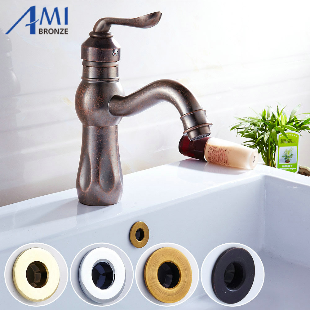 Bathroom Basin / Sink Overflow Cover/Brass Six foot ring ...