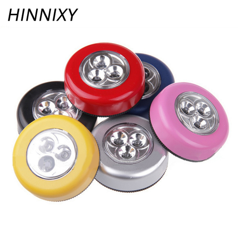 Hinnixy 3LED 4LED Colorful Mini Touch Lamps Cold White Battery Powered Round Cordless Touch Cabine Lamps Bedsides Night LightHinnixy 3LED 4LED Colorful Mini Touch Lamps Cold White Battery Powered Round Cordless Touch Cabine Lamps Bedsides Night Light