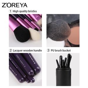 Image 2 - Zoreya makyaj fırçaları profesyonel toz dudak allık vakfı kirpik fırça seti göz farı kozmetik araçları