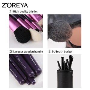 Image 2 - Zoreya pinceaux de maquillage professionnel poudre lèvres Blush fond de teint cils brosse kit ombre à paupières outils cosmétiques