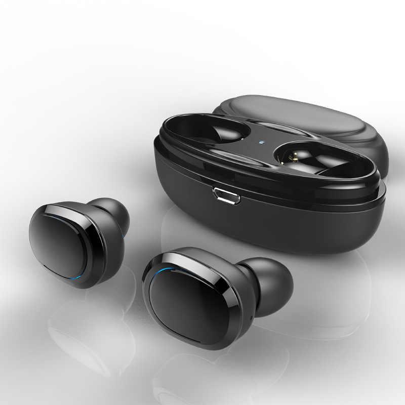 True TWS беспроводные Bluetooth наушники мини беспроводные наушники с зарядным чехлом стерео Близнецы наушники потонепроницаемая гарнитура с микрофоном