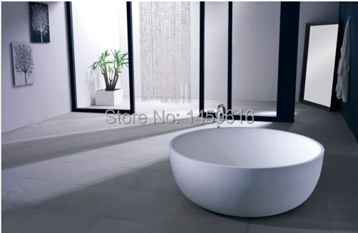 Vasca Da Bagno Freestanding : Mm colleen rotonda di pietra superficie solida vasca da bagno