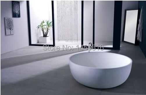 Vasca Da Bagno Freestanding In Acrilico : Mm colleen rotonda di pietra superficie solida vasca da bagno