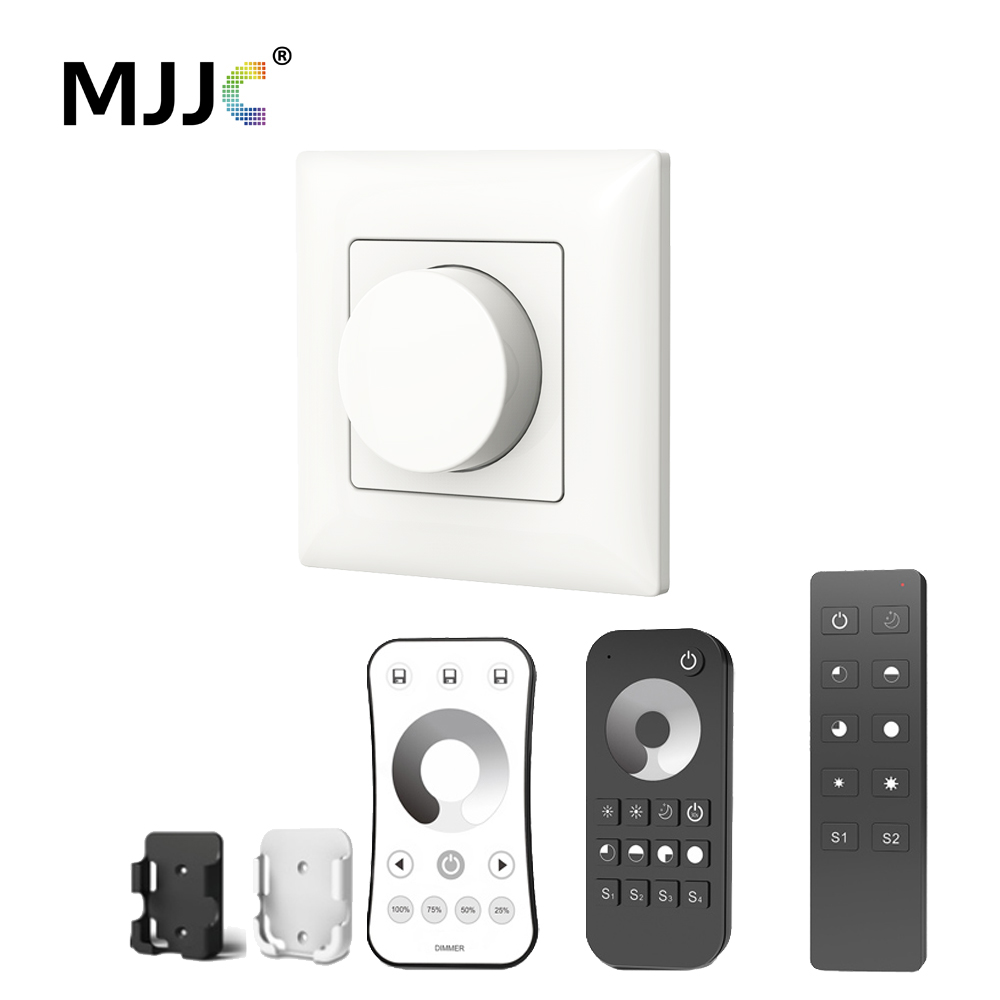 AC Triac LED Dimmer 220V 230V 110V Wireless RF Dimmable Knob Switch With 2.4G Remote Controller for Single Color LED Bulb Lamps m3 m4 5a m3 touch rf remote with m4 5a cv receiver led dimmer controller dc5v dc24v input 5a 4ch max 20a output