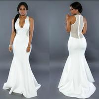 Sexy Party Prom Evening Dresses Women2017 Wedding Lifu Qunzi Black White