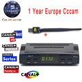Cccam cline Para 1 Ano V7 Freesat HD DVB-S2 Receptor de Satélite apoio Biss Key PowerVu Ccam + 1 PC Usb Wifi Cccam Europa servidor