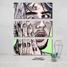 The Triptych Lil Peep 3 Panel Wall Art Photo Canvas Poster Paintings for Room Decoration on Tableau