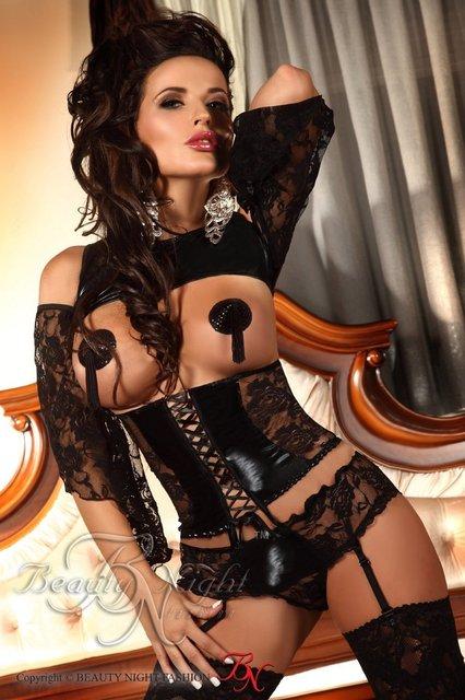 S-XL Tallas grandes Lencería Sexy Corsés de Cintura Korse Sexy Gothique Pu Pvc Látex Vestido de Las Mujeres