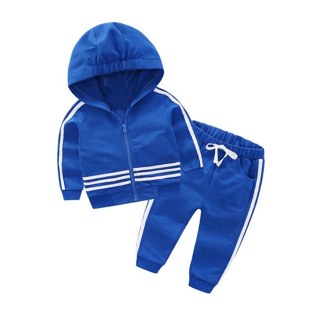 spring autumn Baby Boy Sports Clothes Set Children Clothing Sets Kids Clothes Baby girls T-shirts+Pants 2PCS Tracksuit