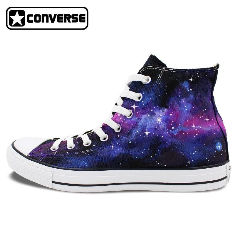 2017 Purple Galaxy Nebula Original Design Converse All Star font b Men b font Women font