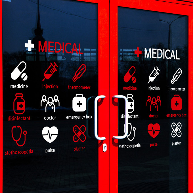 Medical Vinyl Wall Decal Chemists Shop Medicine Signs Clinic - Window decals for medical offices