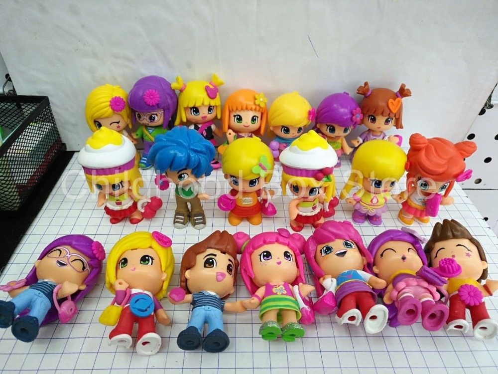 1-30Pcs/Lot Lovely boneca pinypon Scented Dolls Toys Detachable Kids Action Toy Figures Dolls For Fashion Girl Doll Toys o for u 20pcs lot action figures toys anime moose trash pack dolls kids playing garbage mini doll christmas gift free shipping