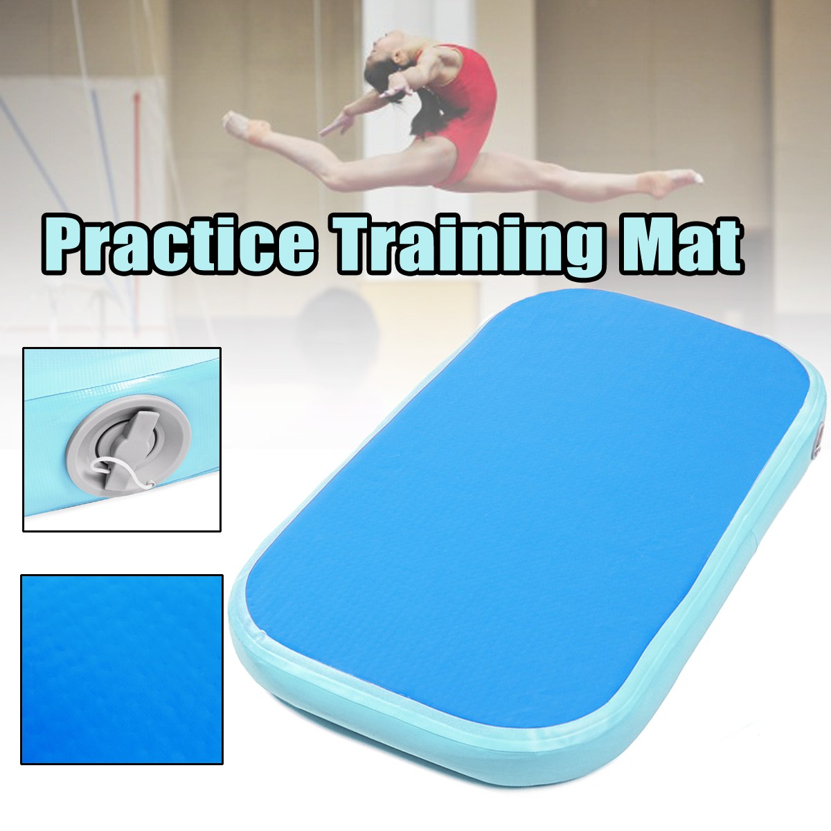 100x60x10cm Air Tumbling Track Roller Home Training Inflatable Matfor Gymnastics Gym Exercise Mat Air Track Tumbling Mat gymnastics mat thick four folding panel fitness exercise 2 4mx1 2mx3cm
