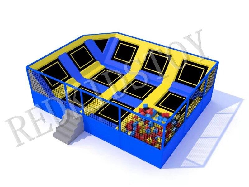 Parc de Trampoline de gymnastique avec fosse en mousse pour adultes et enfants HZ-LG072
