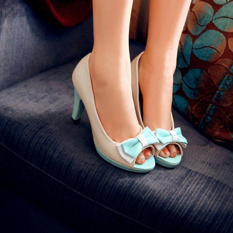 Mignon 13 Et Fsj01 Toe Femmes Printemps Chaussures Taille 11 Plus Talon Arc 12 Dames 2018 Ivoire Fsj Peep Talons La Pompes Aqua Automne Chunky 6ApB44