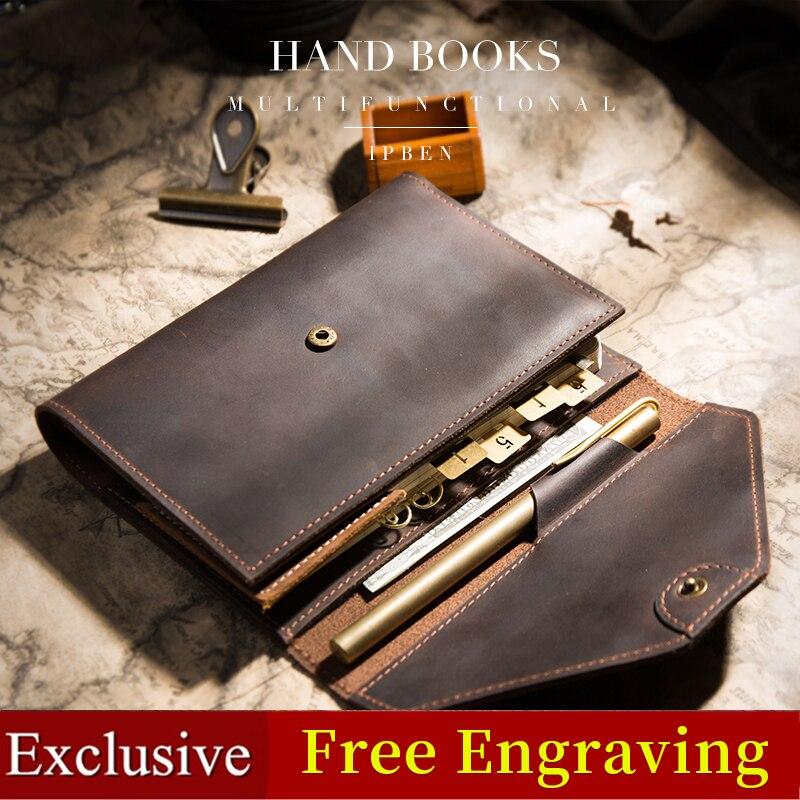 Carnet de voyage planificateurs agenda créatif poche Journal de voyage Journal à la main multifonctionnel A5 A6 bloc-notes couverture cadeau 2019
