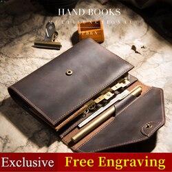 Cuaderno de viajero, planificadores de agenda creativos, diario de viaje de bolsillo, diario hecho a mano multifuncional A5 A6, cuaderno, cubierta para regalo 2019