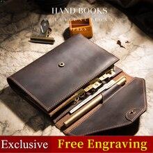 ของแท้หนังโน๊ตบุ๊คไดอารี่Handmadeมัลติฟังก์ชั่Sketchbook Planner A6 Notepadสมุดบันทึกเครื่องเขียนวาระของขวัญ2020