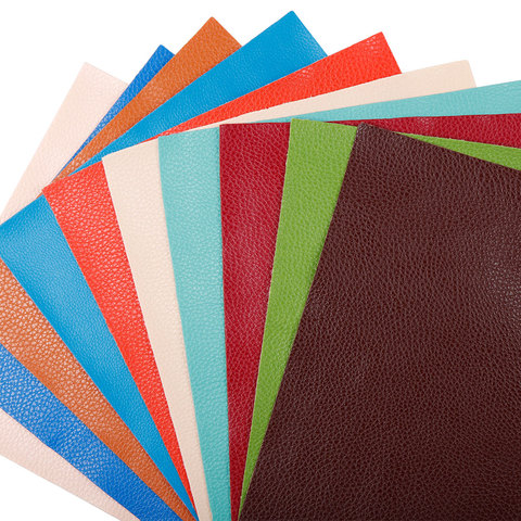 IBOWS 22*30cm Litchi Pattern Faux Leather Fabric For Sewing Artificial Synthetic Pu for DIY Bag Shoes Material Hademade Fabric Karachi