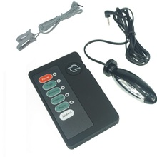 Multi function electro kits electric shock massager with two nipples sex products for women