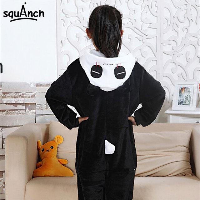 Kid's Kugurumi Onesie Animal Costume Flannel Soft Whole Pajama One Piece Boy Girl Child Pokemon Panda Pikachu Winter Sleep Suit