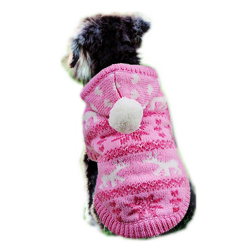 Christmas Dog Cat Coat Hoodie Winter Sweater Puppy Pet Clothes for Small Dog Warm Pets Cos
