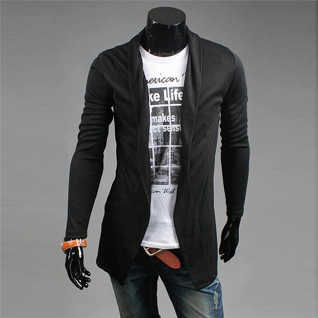 e84685106f Presente de Natal dos homens Camisola Cardigan Camisolas Malhas Blusas  Camisa Dos Homens Preto Tops Com
