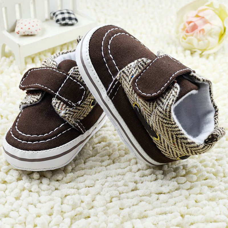 Hot Sale Toddler Baby Boy Soft Sole Buckle Cotton Crib Shoes Infant Prewalker 0-18 Months
