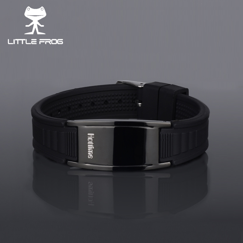 LITTLE FROG Power Energy Wristbands Balance Ion Magnetic Therapy Tourmaline Silicone Bracelets Keep Your Healthy 20018 stretch your dog healthy