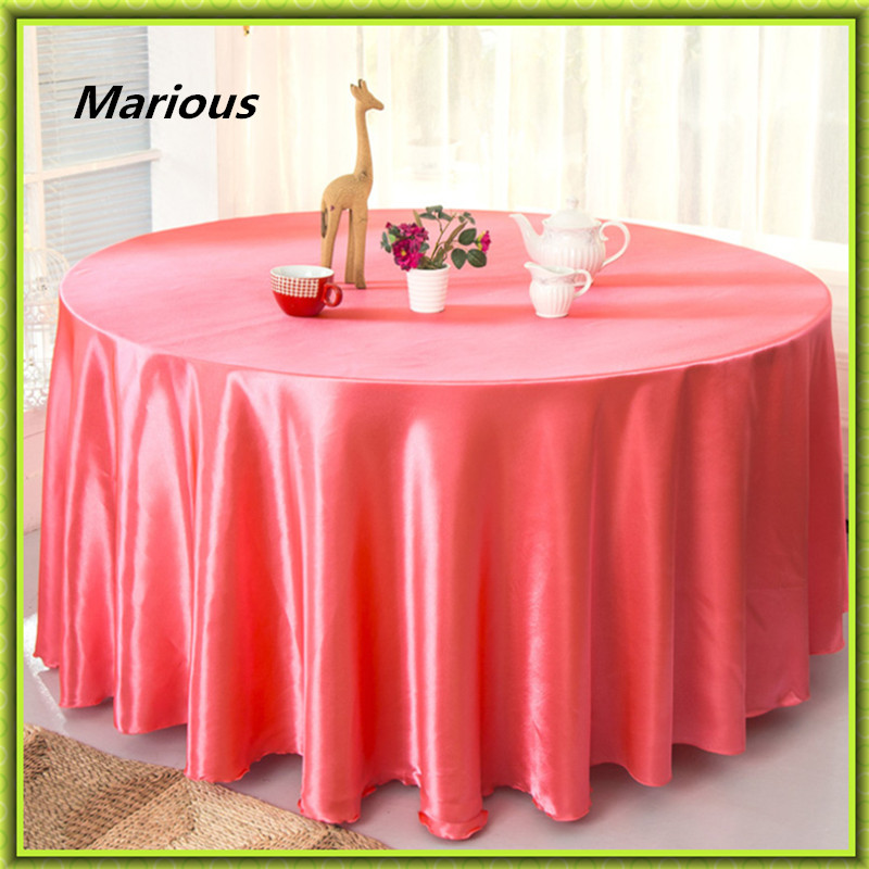 Hot Sale !!! 120ich 10pcs Satin round table cloth for weddings parties hotels restaurant Free Shipping Marious
