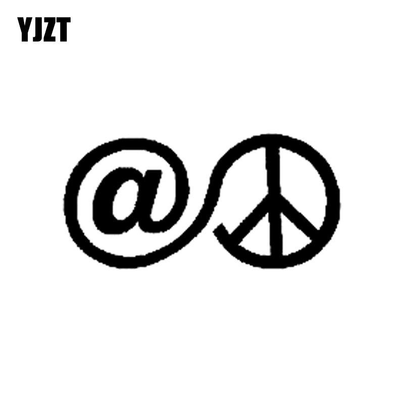 Exterior Accessories Car Stickers Yjzt 13.4cm*6.5cm At Peace Symbol Vinyl Car-styling Fashion Decal Car Sticker Black/silver C11-1153