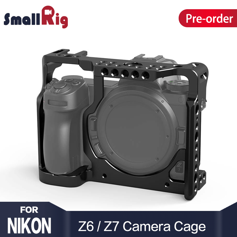 цена на SmallRig Camera Cage for Nikon Z6/ for Nikon Z7 Camera With Arri Locaing Holes Cold Shoe Mount fr Monitor Microphone Attach 2243