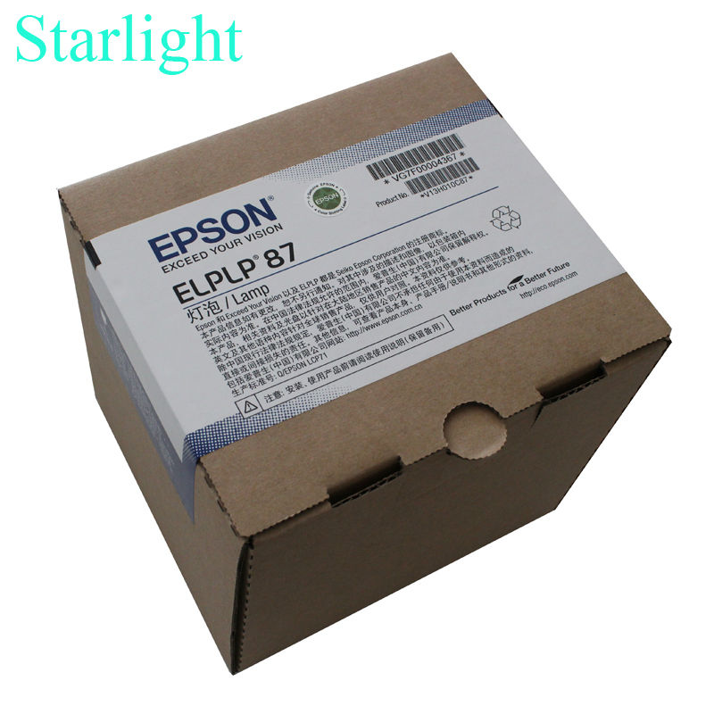 OEM original lamp ELPLP87 For Epson EB-520 EB-525W EB-530 EB-535W EB-536Wi BrightLink 536Wi PowerLite 520 PowerLite 530 elplp87 v13h010l87 replacement projector lamp for epson powerlite 520 525w 530 535w n