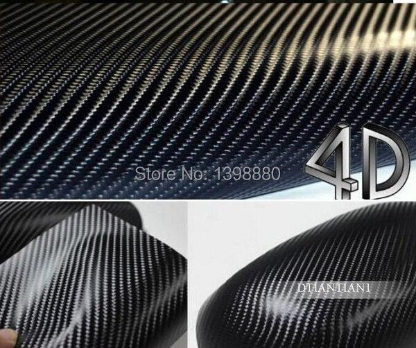 600 mm X 1520 mm étanche bricolage autocollant de voiture Car Styling 4D épaissir 3 M voiture en Fiber de carbone vinyle Film d'emballage avec emballage détail