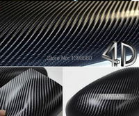 600mmX1520mm Waterproof DIY Car Sticker Car Styling 4D Thicken 3M Car Carbon Fiber Vinyl Wrapping Film