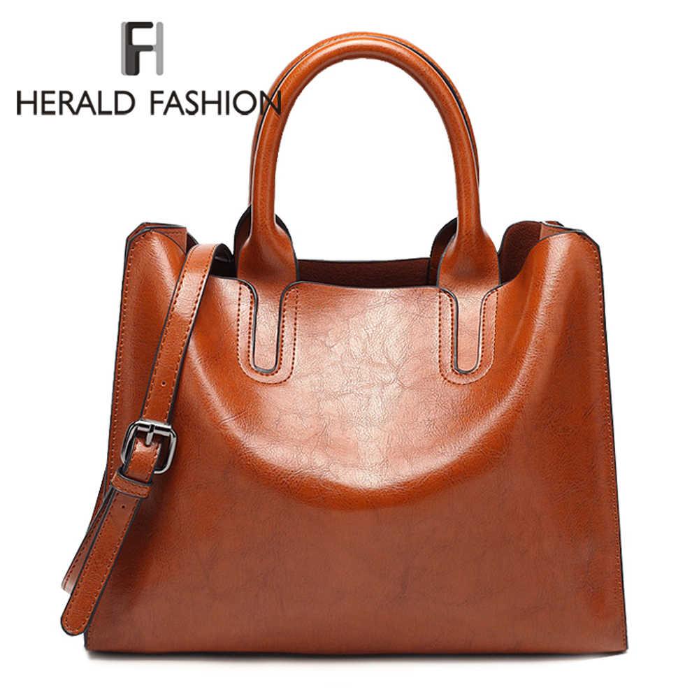 b07e8c83256e Herald модные женские туфли кожа Сумки качество женская сумка Повседневное сумки  женские Кроссбоди мешок большой топ