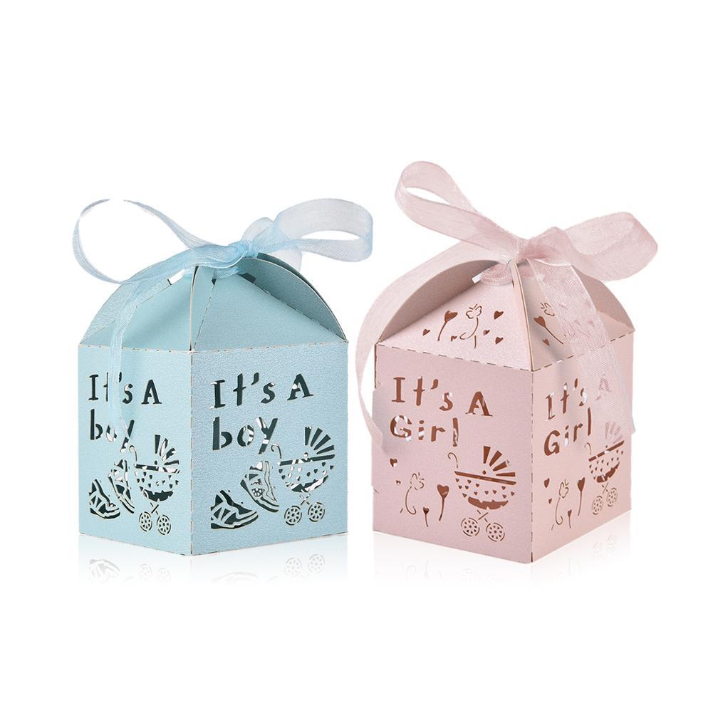 50 pçs caixa de presente de decoração de casa de casamento caixa de doces de festa de bebê