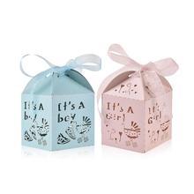 50 шт Детская душевая коробочка для конфет на вечеринку свадебное украшение дома подарочная коробка
