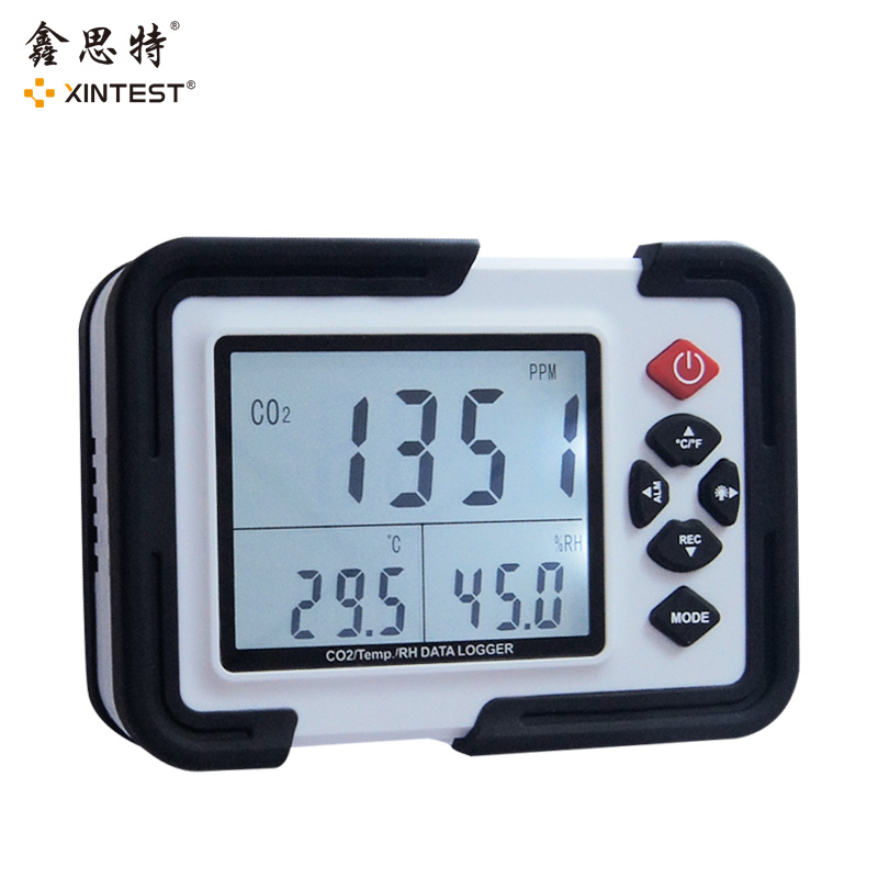 Digital co2 Meter co2 Monitor gas Detector HT-2000 Gas Analyzer co2 Analyzers 3in1Temperature Relative Humidity co2 detector 9999ppm carbon dioxide co2 monitor detector air temperature humidity logger