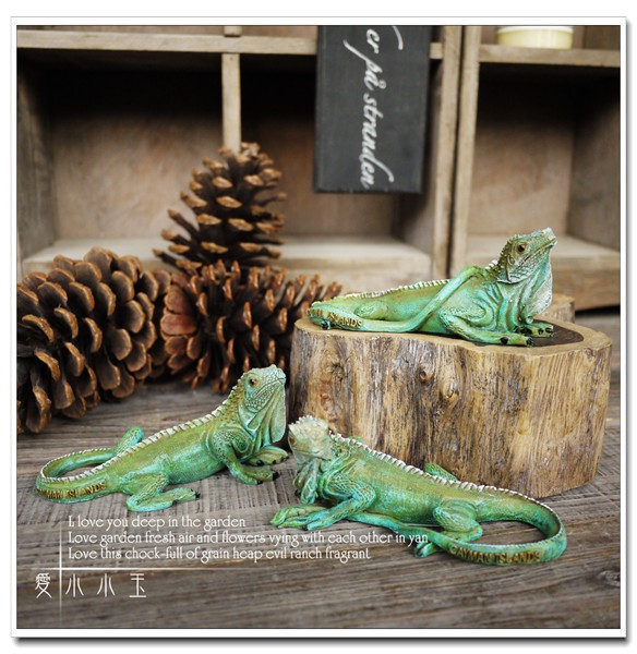 Free Shipping 3pcs/set Desert Lizard Resin Ornaments Decorations Wedding  Gifts Lucky Christmas Gift Home