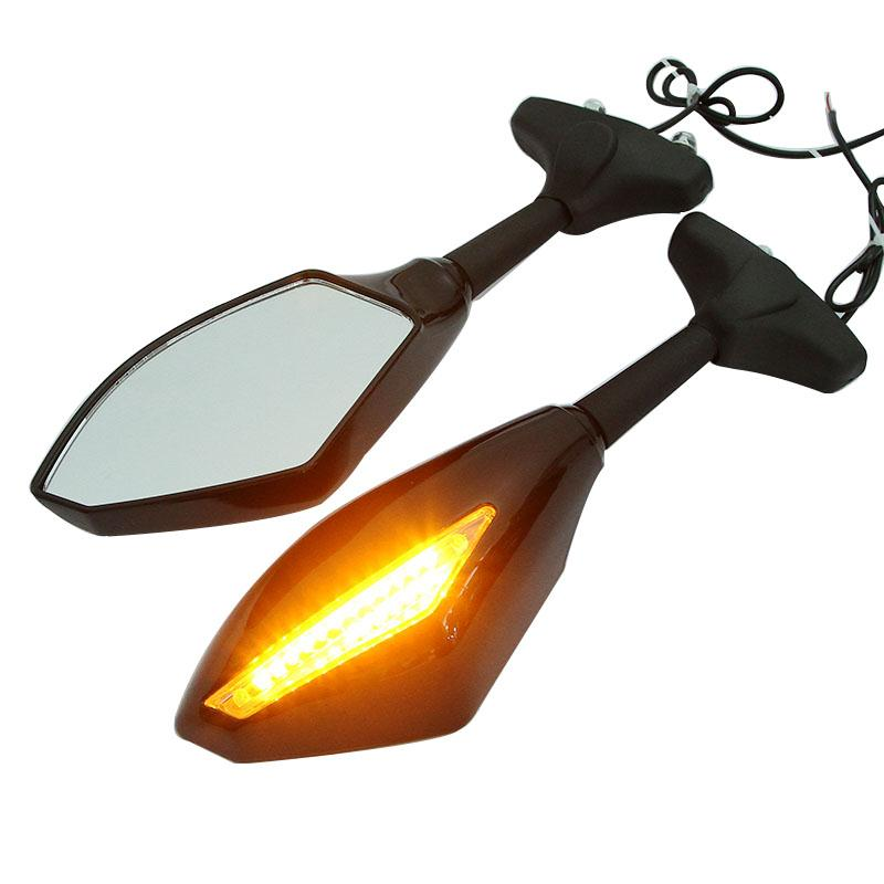 Partol Black Motorcycle Side Mirrors Rearview Mirror With