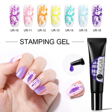 UR SUGAR 8ml Stamping Gel Polish Purple Yellow Soak Off UV Varnish Print for Stamp Template Nail Art Manicure