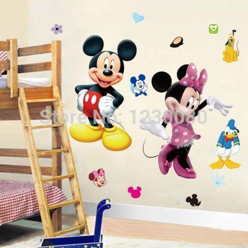 Cartoon Mickey Minnie Wall Area 8