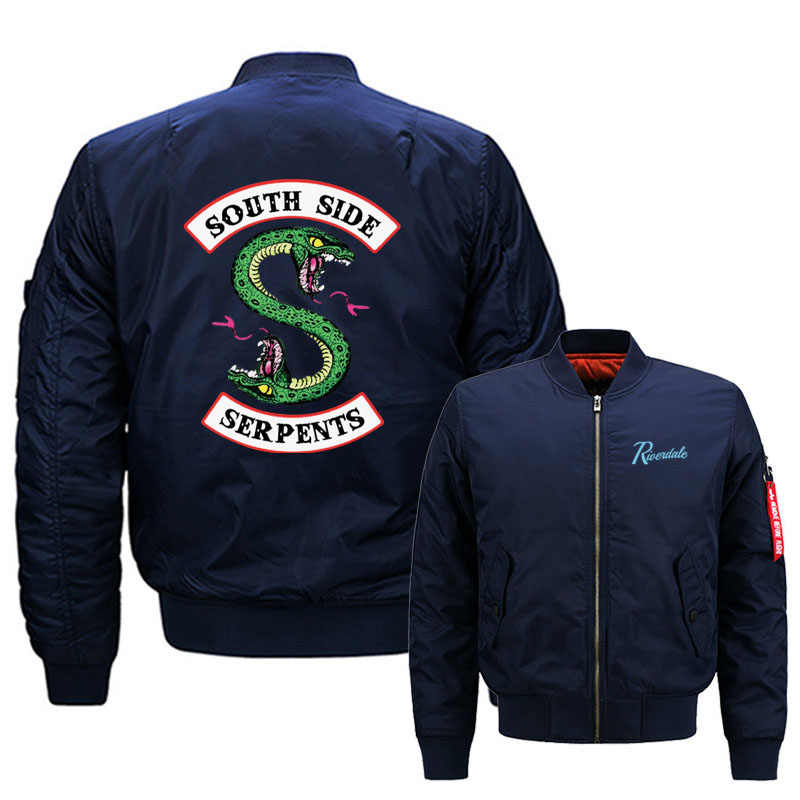 New Mens Riverdale South Side Serpents Hoodies Fashion Printing Baseball jacket Casual Sweatshirts Hip-hop Male Hoody MA1 Men Bo