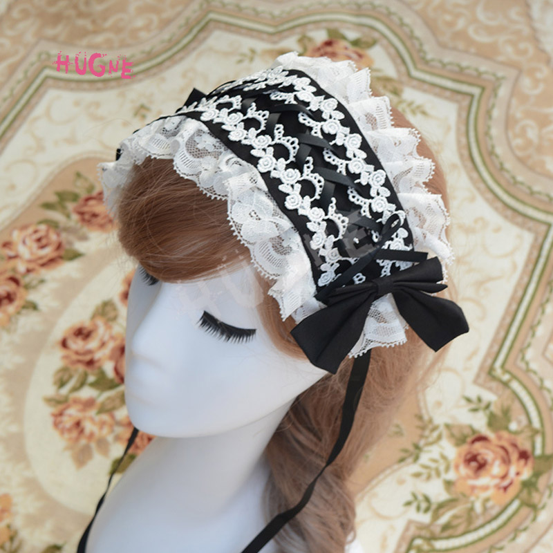 Sweet-New-Lolita-Lace-Headband-Pink-Blue-White-Black(2)