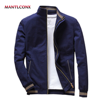 MANTLCONX 2019 Spring Autumn Mens Jacket Stand Collar Jacket Male Blue Black Jackets Casual Male Brand Clothing Men jaqueta 2019
