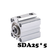 SDA25*5 Standard cylinder thin cylinder SDA Type Air Cylinder  Compact Thin Pneumatic Cylinder sda80x45 s sda80x50 s airtac thin type cylinder air cylinder pneumatic component air tools diameter 80mm