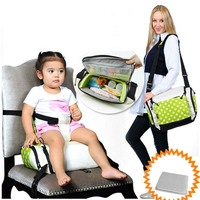 Port GoBoost Travel Booster Seat for on the go dining With A Free Diaper 4 Color For Available baby feed chair